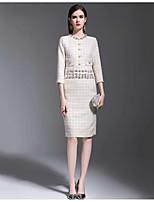 Χαμηλού Κόστους Γυναικεία Φορέματα-Γυναικεία Βασικό Θήκη Φόρεμα - Μονόχρωμο  Ως το Γόνατο a1f8965c1fc