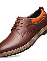 levne Pánské oxfordky-Pánské Komfortní boty mikrovlákno Jaro  amp  podzim  Oxfordské Černá   Hnědá ef4de9be6d