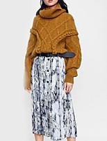 ddaeb964122 Χαμηλού Κόστους Γυναικείες Φούστες-Γυναικεία Κούνια Βασικό Φούστες - Συνδυασμός  Χρωμάτων