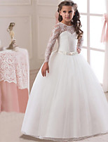 642a856884b cheap Flower Girl Dresses-Princess Long Length Flower Girl Dress - Lace    Satin