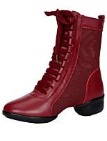 e1bbfa1b8e olcso Tánccipők-Női Tánccipők Műbőr / Háló Csizmák Vastag sarok Személyre  szabható Dance Shoes Fekete