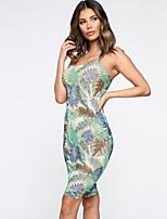 b878253775 abordables Vestidos de Mujer-Mujer Básico Corte Bodycon Vaina Vestido  Geométrico Hasta la Rodilla