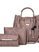 904af1ca44 Χαμηλού Κόστους Σετ τσάντες-Γυναικεία Τσάντες PU Σετ τσάντα 3 σετ Σετ  τσαντών Κουμπί Συμπαγές