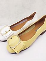 f290719b abordables Zapatos de Mujer-Mujer Cuero de Napa Primavera Bailarinas Tacón  Plano Blanco / Amarillo
