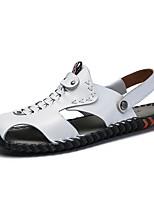 7fe78a459 رخيصةأون أحذية الرجال-رجالي أحذية الراحة جلد الخريف / للربيع والصيف عتيق /  كاجوال صنادل