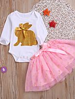 af370afef66 Χαμηλού Κόστους Βρεφικά σετ ρούχων-Μωρό Κοριτσίστικα Βασικό Στάμπα Στάμπα  Μακρυμάνικο Κανονικό Βαμβάκι / Πολυεστέρας