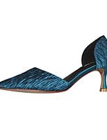 9823ea0059 olcso Női magassarkú cipők-Női Szatén Tavaszi nyár Magassarkúak Kúpsarok  Fekete / Bézs / Zöld