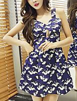 7ae76aaf59 abordables Vestidos de Mujer-Mujer Básico Línea A Vestido - Estampado