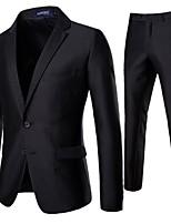 f1a860da32 levne Pánské blejzry a saka-Pánské Obleky Šálové klopy Polyester Černá L    XL