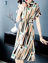 Χαμηλού Κόστους -Γυναικεία Σε γραμμή Α Φόρεμα Μίντι Όρθιος Γιακάς
