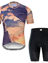 d746b2584e4e49 abordables Vêtements Vélo Cyclisme-MUBODO Homme Manches Courtes Maillot et  Cuissard Velo Cyclisme Bleu +
