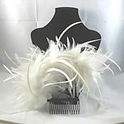 peine del pelo de aleación de plumas casco elegante estilo femenino clásico
