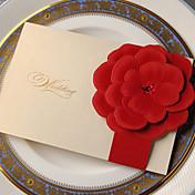 Doblado Lateral Invitaciones De Boda Tarjetas de invitación Estilo clásico Estilo floral Papel de tarjeta 18 x 13cm