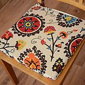 モダンなスタイル綿100%マルチカラー花柄のチェアパッド
