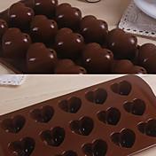 15 rejillas amor corazón patrón torta de silicona bakewares cocina& comida