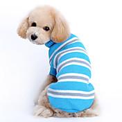Gato Perro Suéteres Ropa para Perro Casual/Diario Mantiene abrigado Rayas Azul Disfraz Para mascotas