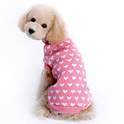 Sweater Dog Clothes Heart Pink Woolen Cos...