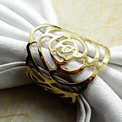 1pc oro / plata servilleta metal decoraciones para el hogar servilleta colección