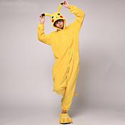 Kigurumi Pijamas Pika Pika Disfraz Vellón de Coral Kigurumi Leotardo / Pijama Mono Cosplay Festival / Celebración Ropa de Noche de los