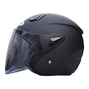 711-1 material abs motocicleta medio casco (con la lente leonado, colores opcionales)