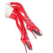 Botas de tacón de 7 pulgadas de altura de la mujer sobre la rodilla patea los zapatos atractivos, cargadores del ballet