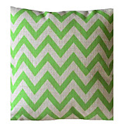 Ever Green Wave raya almohada decorativa con Insert