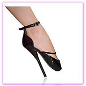 Mujer Zapatos Semicuero Cuero Invierno Primavera Verano Otoño Innovador Tacón Stiletto Dedo redondo Hebilla Para Vestido Fiesta y Noche