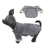 猫用品 犬用品 Tシャツ ブラック 犬用ウェア 夏 春/秋 格子柄 カジュアル/普段着