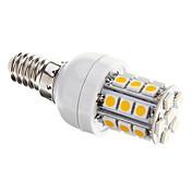 E14 Bombillas LED de Mazorca T 27 leds SMD 5050 Regulable Blanco Cálido 350lm 3000-3500K AC 100-240V