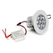 7 * 1W 630lm 5500-6500Kの白色LEDシーリングライトバルブ(85から265)