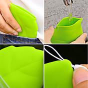 1pcポータブルリーフスタイルポケットカップ環境緑キャリーカップ
