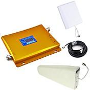 Pantalla LCD GSM y DCS teléfono móvil de banda dual señal de refuerzo de la antena + log periódica + antena plana con el cable