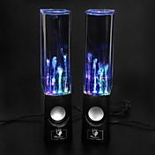 Altavoz USB LED Hi-Fi Stereo para PC, Portátil, MP3, Teléfono (Negro)
