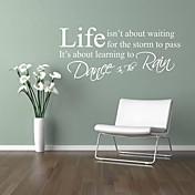 samolepky na zeď život cituje tanec v dešti domácí dekorace jiubai ™ Lepicí obraz na stěnu