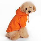 犬 パーカー 犬用ウェア 純色 ブラック オレンジ グレー レッド
