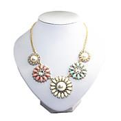 rhinstoneネックレスcanlyn女性のカラフル真珠
