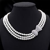 Mujer Collar - Perla Artificial Blanco Gargantillas Para Boda, Fiesta, Ocasión especial / Aniversario / Pedida / Regalo / Diario
