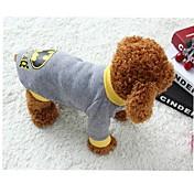 Gato Perro Disfraces Camiseta Ropa para Perro Cosplay Caricaturas Gris Disfraz Para mascotas