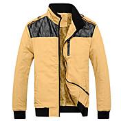 ifeymilan algodón moda slim stand abrigo de cuello de los hombres