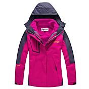 Mujer Chaqueta para senderismo Al aire libre Invierno Impermeable Mantiene abrigado Resistente al Viento Fleece extraíble Grueso Vellón