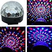 音声作動RGBは、私たちはプラグクリスマスパーティーのためのカラフルな回転スポットライト電球ランプを主導