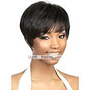 capless short black human hair wigs