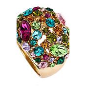 Dámské Prsteny s kamenem Módní Velké šperky luxusní šperky bižuterie Štras 18K zlatá Slitina Šperky Pro Párty