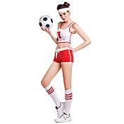 Vestidos de Cheerleader Accesorios Accesorios de Escenario Mujer Representación Entrenamiento Poliéster Sin mangas