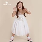 Vestido Chica deFloral-Raso-Verano / Primavera / Otoño-Blanco