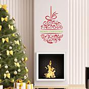植物の クリスマス 文字 フローラル柄 ホリデー 抽象 ファンタジー ウォールステッカー プレーン・ウォールステッカー 飾りウォールステッカー 材料 洗濯可 取り外し可 ホームデコレーション ウォールステッカー・壁用シール