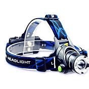 TD286 Linternas de Cabeza Faro Delantero LED 800 lm Modo Cree T6 con pilas y cargador Zoomable Enfoque Ajustable Recargable Impermeable