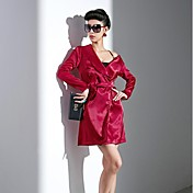 Mujer Moderno Abrigo Un Color Estilo moderno