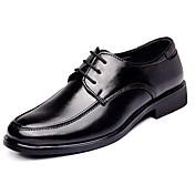メンズ 靴 レザー 春 夏 秋 冬 コンフォートシューズ フォーマルシューズ オックスフォードシューズ 編み上げ 用途 カジュアル ブラック