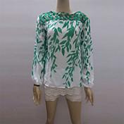todo camisa de gasa de impresión a juego de los Cocos zhang mujeres